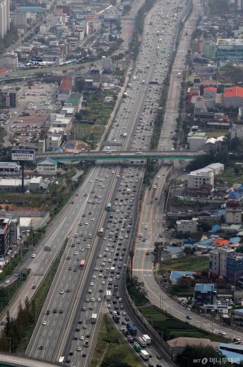 [사진]정체 시작된 고속도로