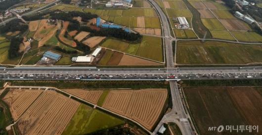 [사진]서해안고속도로 하행 정체중
