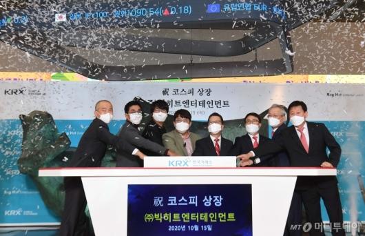 [사진]'BTS' 빅히트 코스피 입성