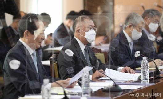 [사진]정의선 회장, 수소경제로 첫 대외행보