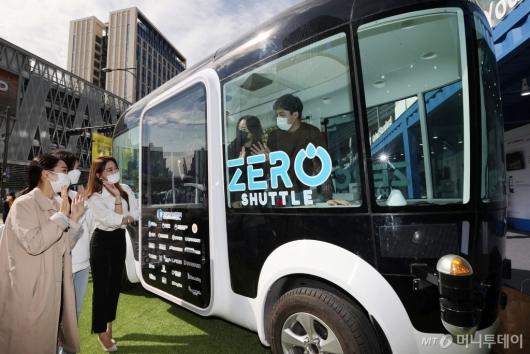 [사진]자율주행 버스 '제로셔틀'
