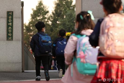 [사진]거리두기 1단계 완화, 초등학교 등교 확대