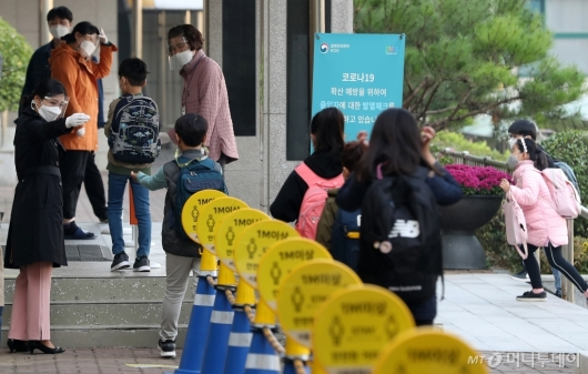 [사진]거리두기 완화 '초등학교 등교 확대'