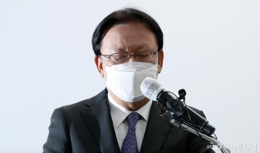 [사진]사과문 발표하는 CJ대한통운 박근희 대표