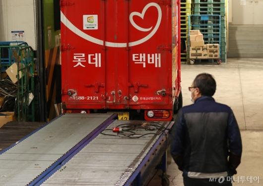 [사진]롯데택배 오늘부터 무기한 총파업 돌입