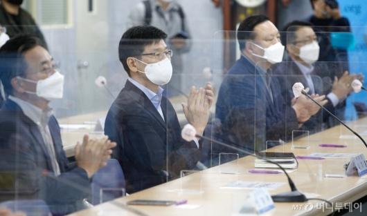 [사진]노사 단체교섭 참석한 삼성전자