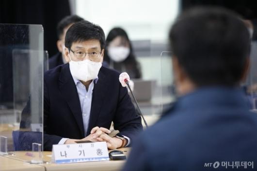 [사진]인사말하는 나기홍 삼성전자 부사장