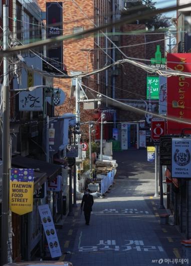 [사진]인적 드문 이태원 거리