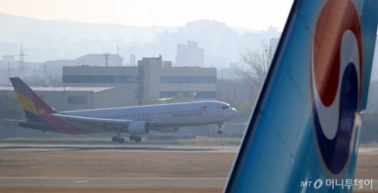 [사진]'대한항공·아시아나 통합될까'