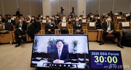 [사진]축사 전하는 김용진 국민연금 이사장
