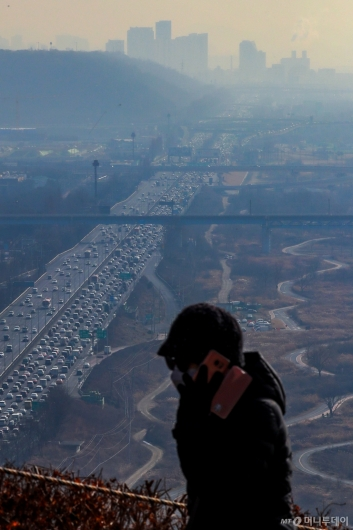 [사진]전국 황사·미세먼지 극성