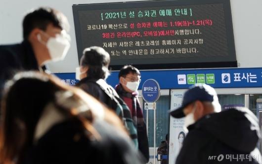 [사진]설 승차권 예매는 비대면으로