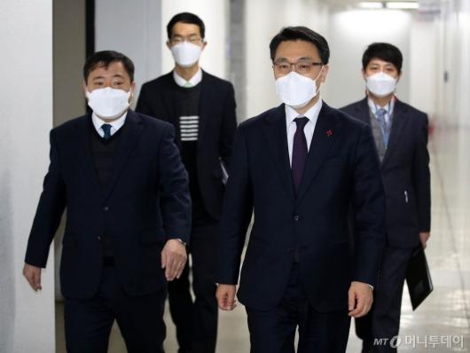 [사진]취임식 참석하는 김진욱 초대 공수처장