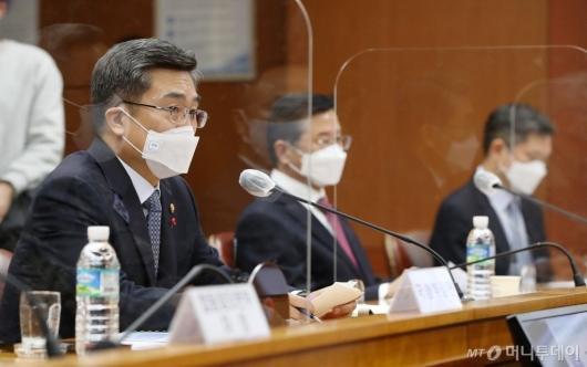 [사진]유엔평화유지 장관회의 준비위 참석한 서욱 장관