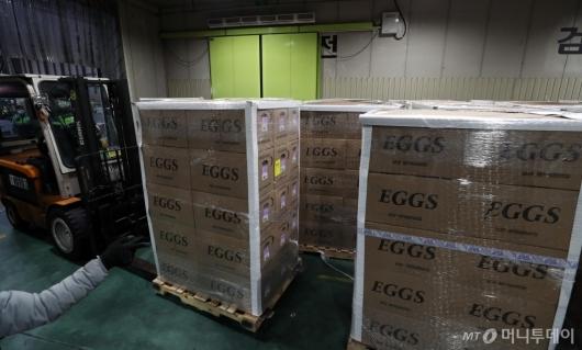 [사진]계란 공급 부족에 따른 미국산 계란 긴급 수송
