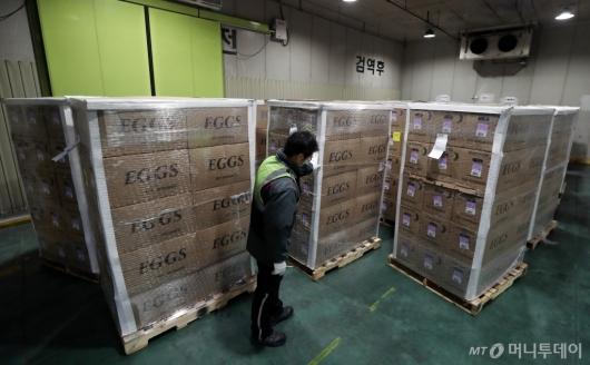 [사진]한국 도착한 미국산 계란