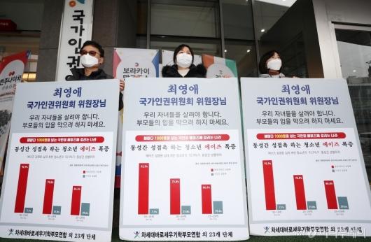 [사진]국가인권위 규탄 및 위원장 사퇴 촉구
