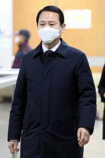 [사진]선고 공판 출석하는 여인태 전 제주지방해양경찰청장
