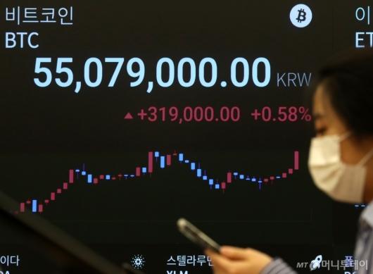 [사진]5500만원 돌파한 비트코인