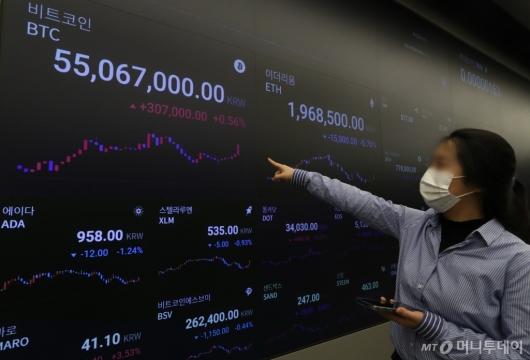 [사진]'비트코인 5500만원'