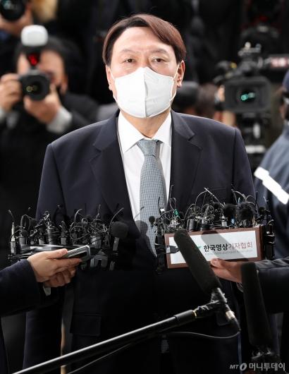 [사진]입장 발표하는 윤석열 검찰총장