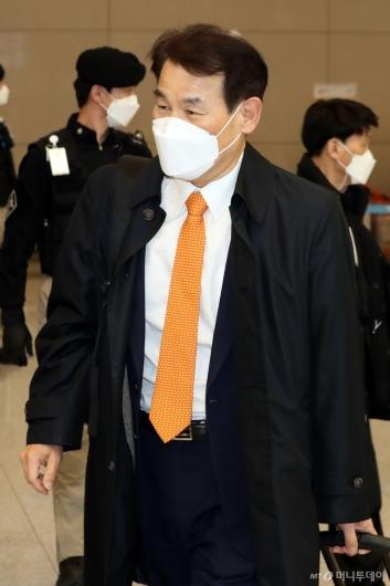 [사진]귀국하는 정은보 대사