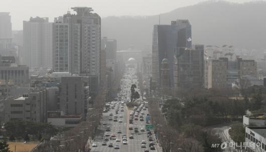 [사진]전국 미세먼지 수준 '매우 나쁨'
