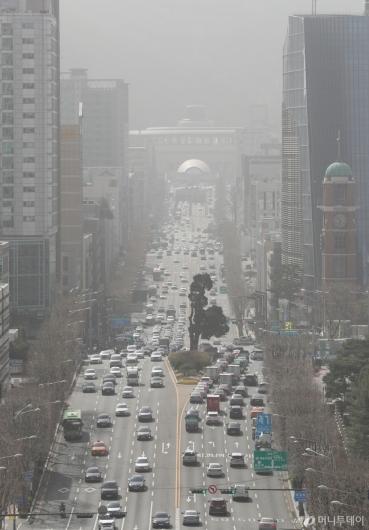[사진]미세먼지 덮인 서울