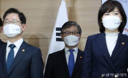 [사진]변창흠 장관, 반부패정책협의회 결과 브리핑 참석