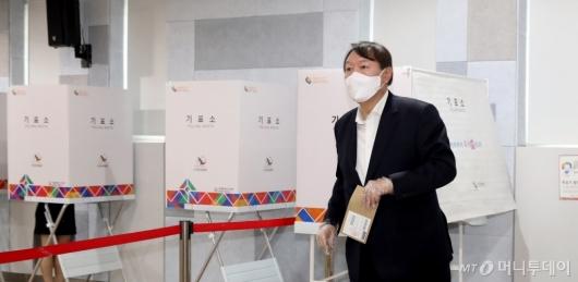 [사진]사전투표 마친 윤석열