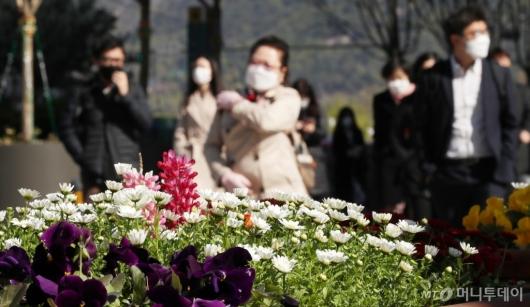 [사진]4월 중순에 찾아온 꽃샘추위