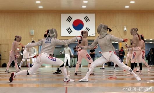 [사진]도쿄올림픽 앞두고 구슬땀 흘리는 선수들