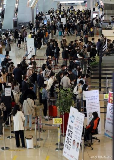 [사진]여행객들 붐비는 국내선 청사