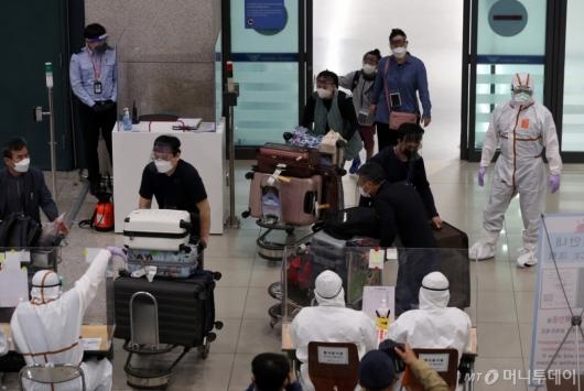 [사진]인도 교민 입국