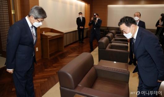 [사진]김오수 검찰총장, 대법원장 예방