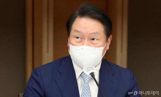 [사진]발언하는 최태원 대한상공회의소 회장