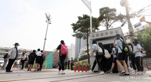 [사진]오늘부터 중학생 등교 확대