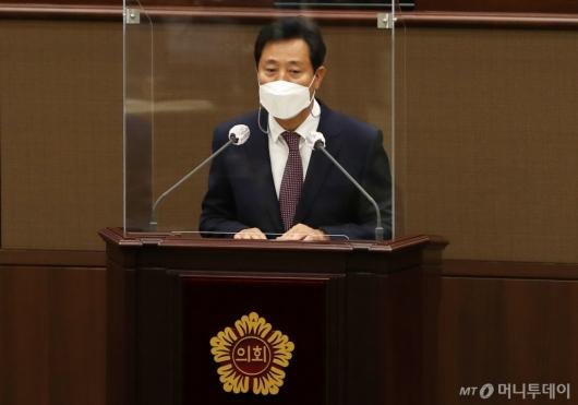 [사진]'오세훈 조직개편안' 시의회 통과