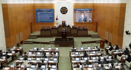 [사진]서울시의회 본회의 통과한 '오세훈 조직개편안'