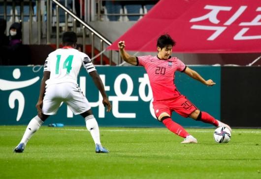 남자 올림픽 축구대표팀, 가나 친선전 승리