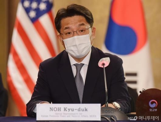 [사진]발언하는 노규덕 한반도평화교섭본부장