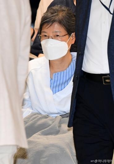 [사진]지병 치료 입원하는 박근혜 전 대통령