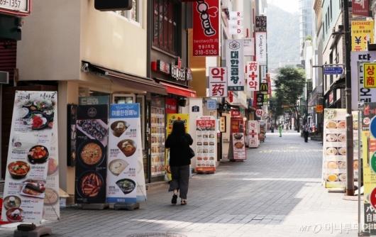 [사진]수도권 거리두기 4단계 연장, 한산한 식당가