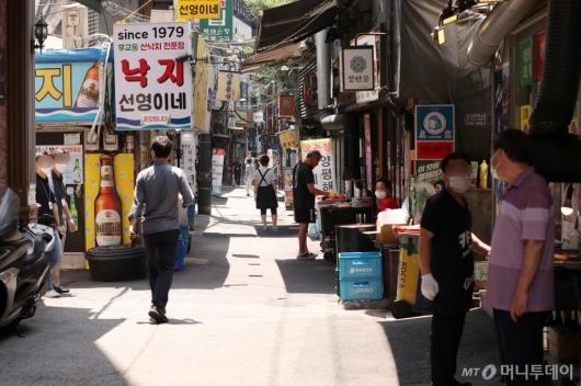 [사진]점심시간 썰렁한 식당가