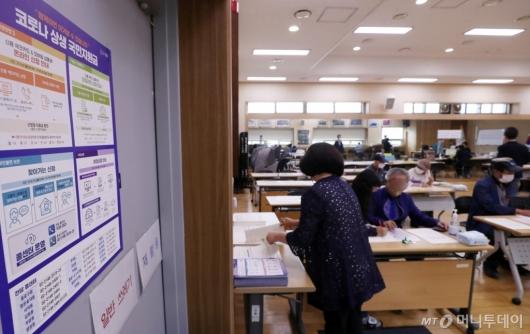 [사진]국민지원금 오프라인 신청 첫날