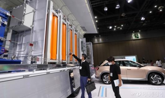 [사진]신기한 현대자동차 이동식 수소충전소