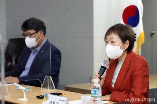 [사진]인사말하는 고은숙 사장