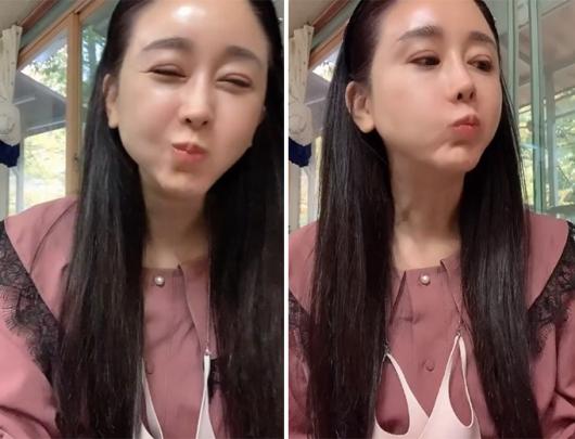 함소원, 딸 울어도 행복한 먹방…쌍꺼풀 성형 자국 '눈길'