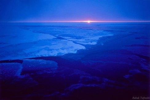 ▲ 남극의 일출