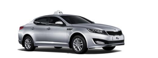 ↑ 기아차 K5 택시.